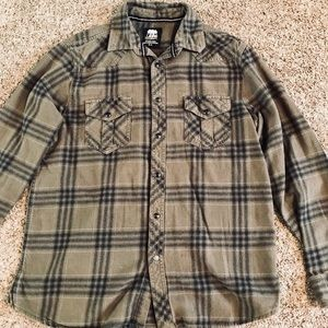 Olive Green Flannel